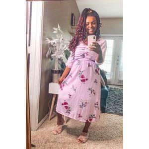3 ITEM Bundle Bobeau Floral Dress Belt Bag outfit